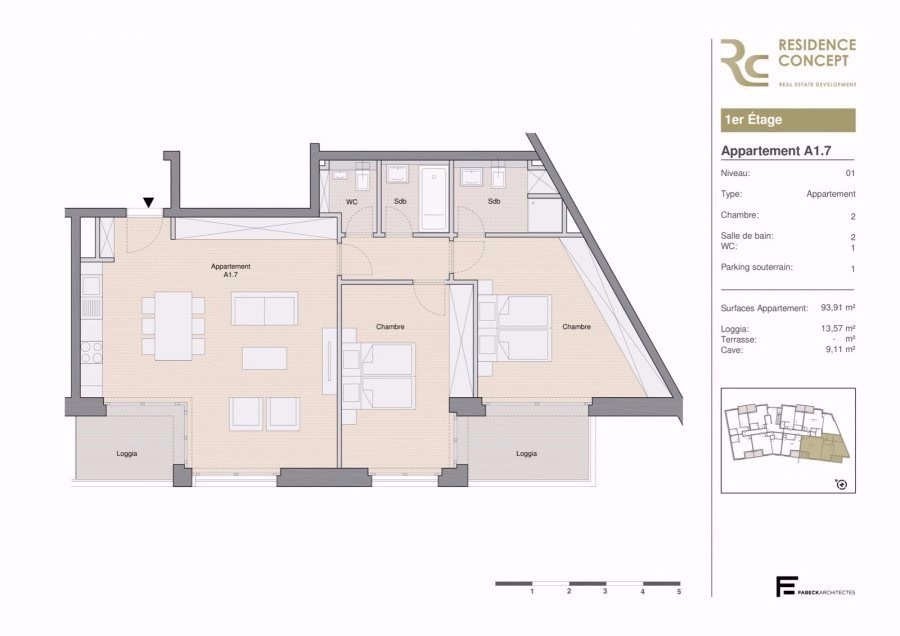 apartment for buy 2 bedrooms 108 m² luxembourg photo 3