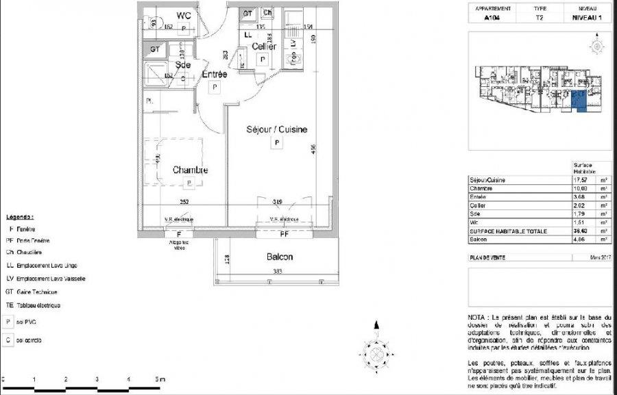 louer appartement 2 pièces 36.6 m² couëron photo 2