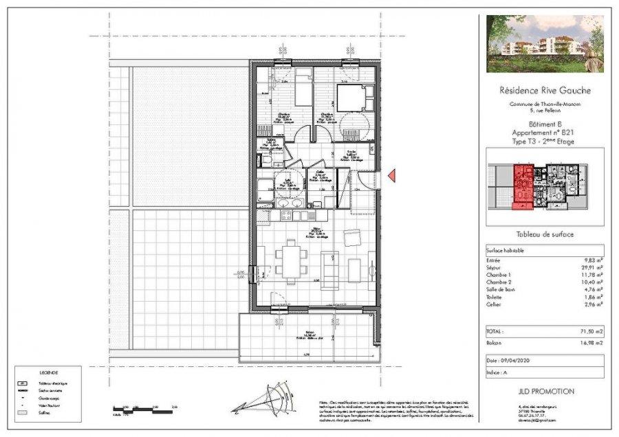 acheter appartement 3 pièces 71.5 m² manom photo 3