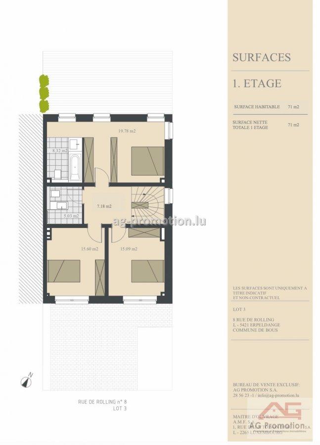acheter maison individuelle 4 chambres 182.1 m² erpeldange (bous) photo 3