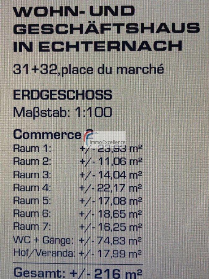Bureau à louer 7 chambres à Echternach