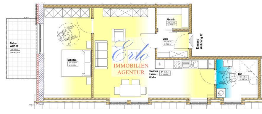 acheter appartement 2 pièces 73.04 m² zerf photo 2
