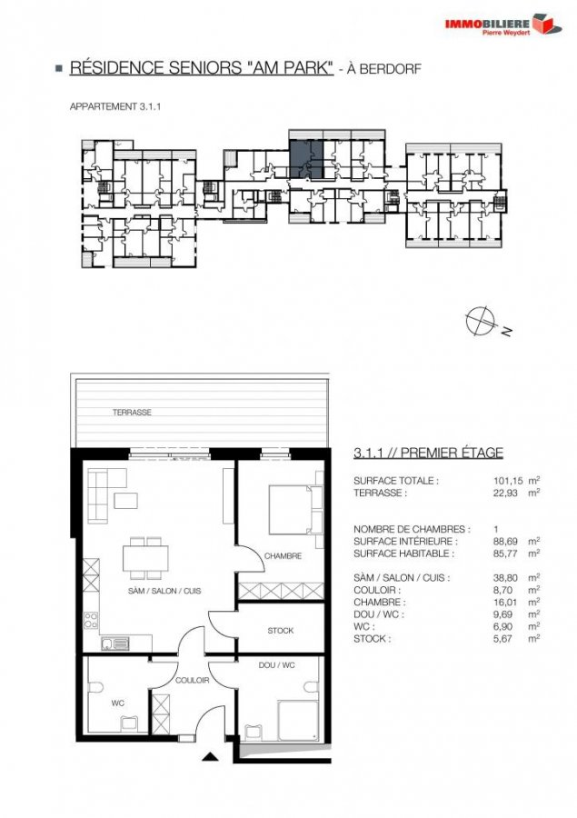 louer appartement 1 chambre 88.69 m² berdorf photo 4