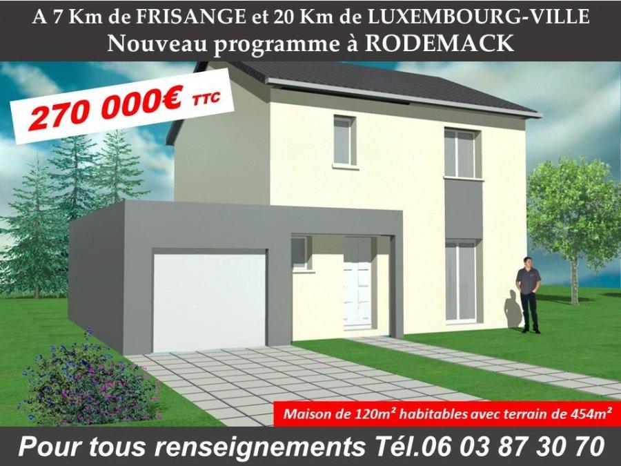 Maison individuelle en vente thionville 120 m 270 for Acheter maison luxembourg