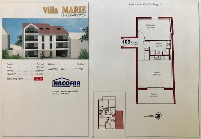 acheter appartement 2 pièces 48 m² boulange photo 3