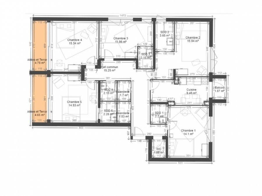 Appartement à louer 5 chambres à Luxembourg-Centre ville