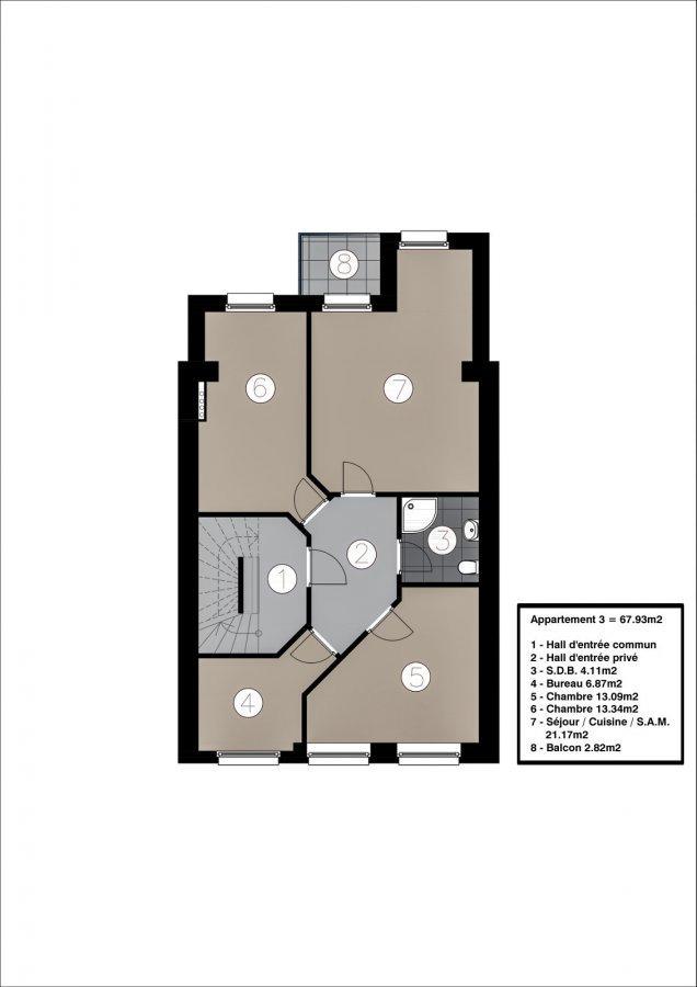 wohnung kaufen 2 schlafzimmer 69.43 m² esch-sur-alzette foto 3