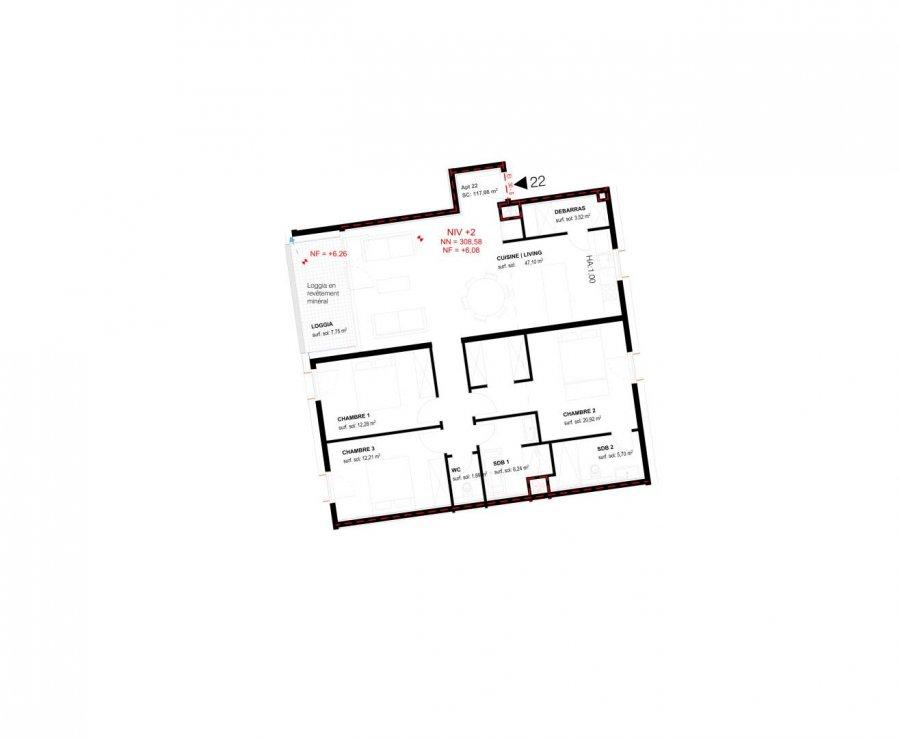 acheter appartement 3 chambres 117.1 m² belval photo 3