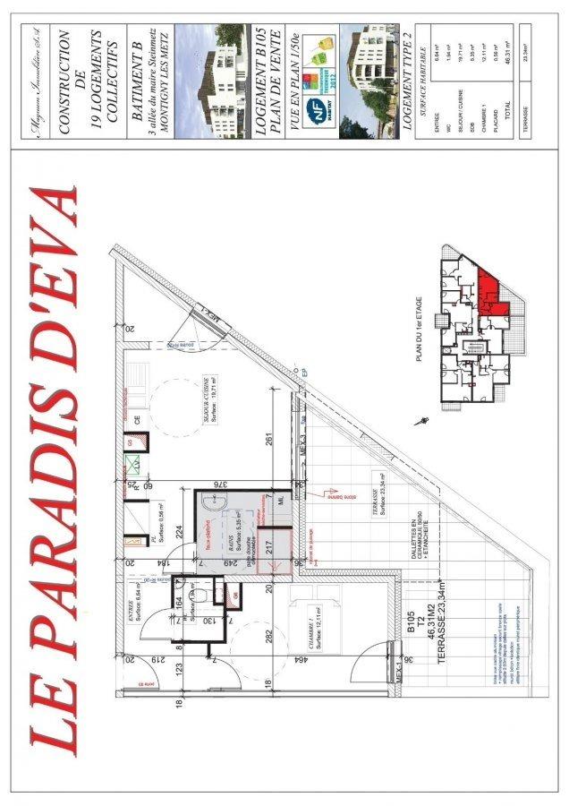 acheter appartement 2 pièces 46.31 m² montigny-lès-metz photo 3