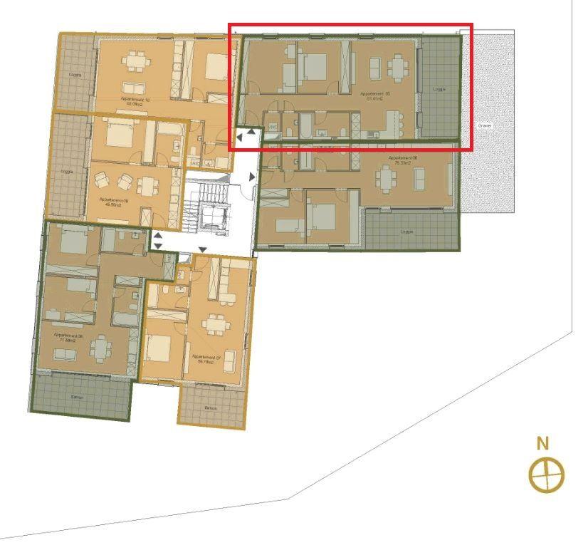 wohnung kaufen 2 schlafzimmer 81.46 m² alzingen foto 3