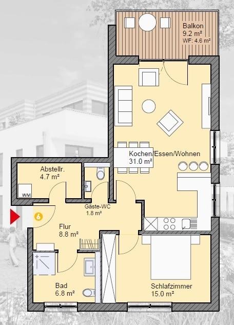 wohnung kaufen 2 zimmer 64.73 m² irrel foto 3