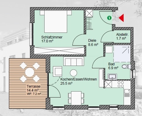 wohnung kaufen 2 zimmer 64.73 m² irrel foto 2