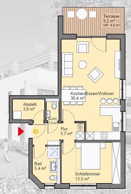 wohnung kaufen 2 zimmer 64.73 m² irrel foto 4