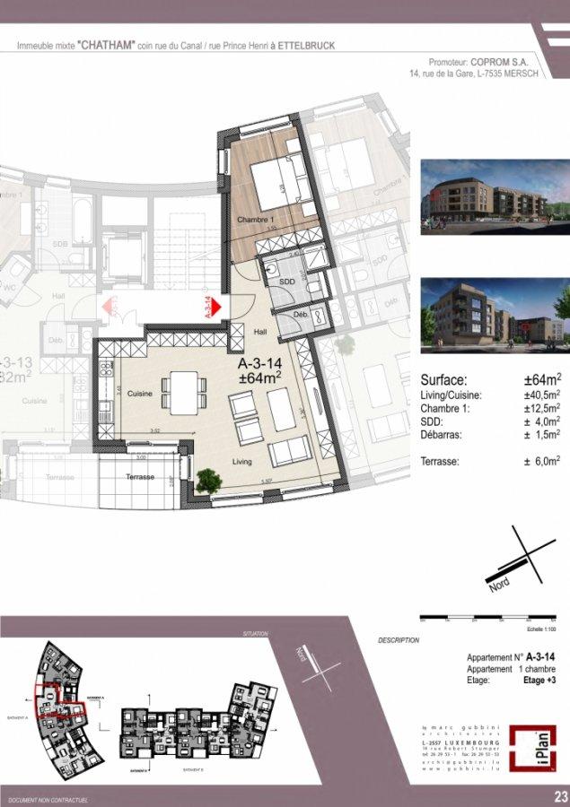 acheter appartement 1 chambre 65.05 m² ettelbruck photo 4