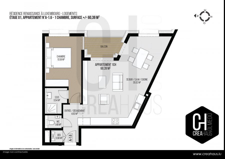 apartment for buy 1 bedroom 60.39 m² luxembourg photo 3