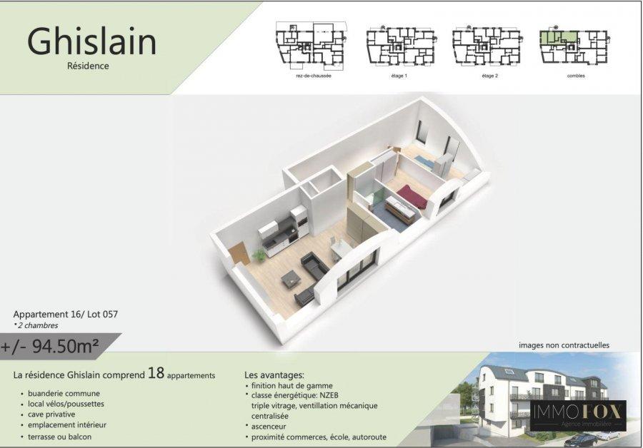 acheter appartement 2 chambres 94 m² rodange photo 3