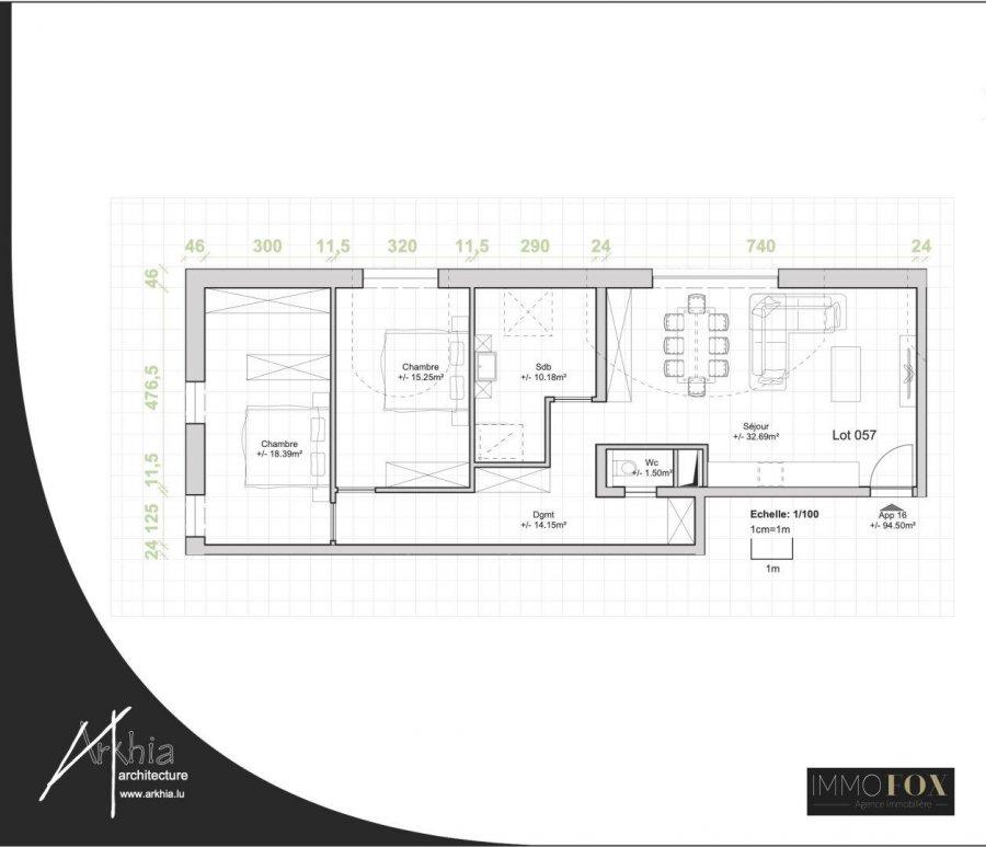 acheter appartement 2 chambres 94 m² rodange photo 2