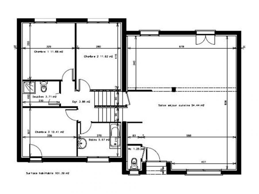 maison individuelle en vente thionville 101 m 325. Black Bedroom Furniture Sets. Home Design Ideas