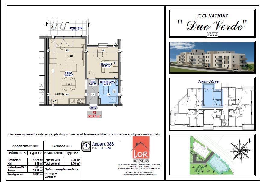 acheter appartement 2 pièces 50.91 m² yutz photo 3