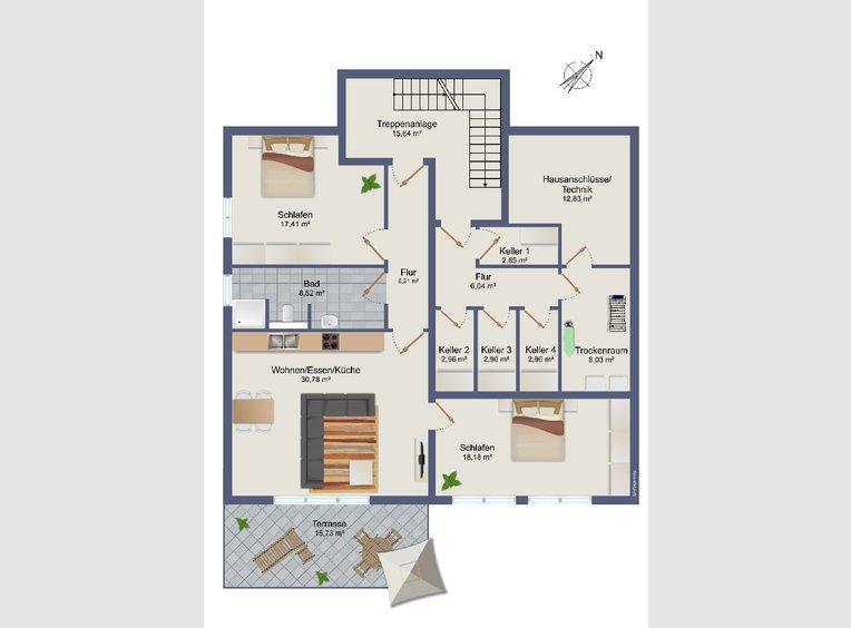 Appartement à vendre 2 Pièces à Trier (DE) - Réf. 7231201