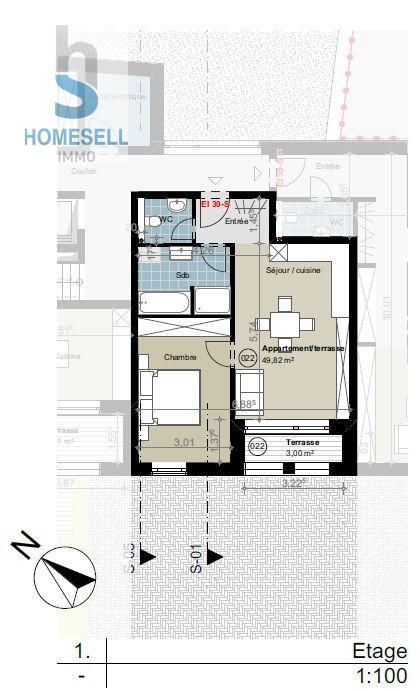 Appartement à vendre 1 chambre à Septfontaines