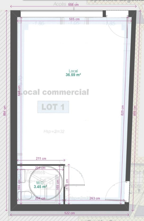 louer local commercial 1 pièce 38 m² nancy photo 3