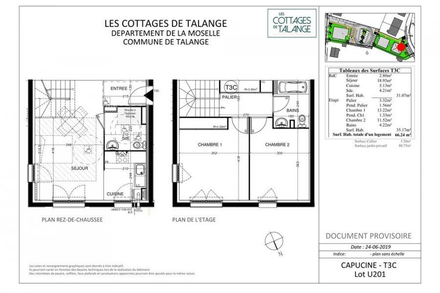 acheter appartement 3 pièces 66 m² talange photo 4