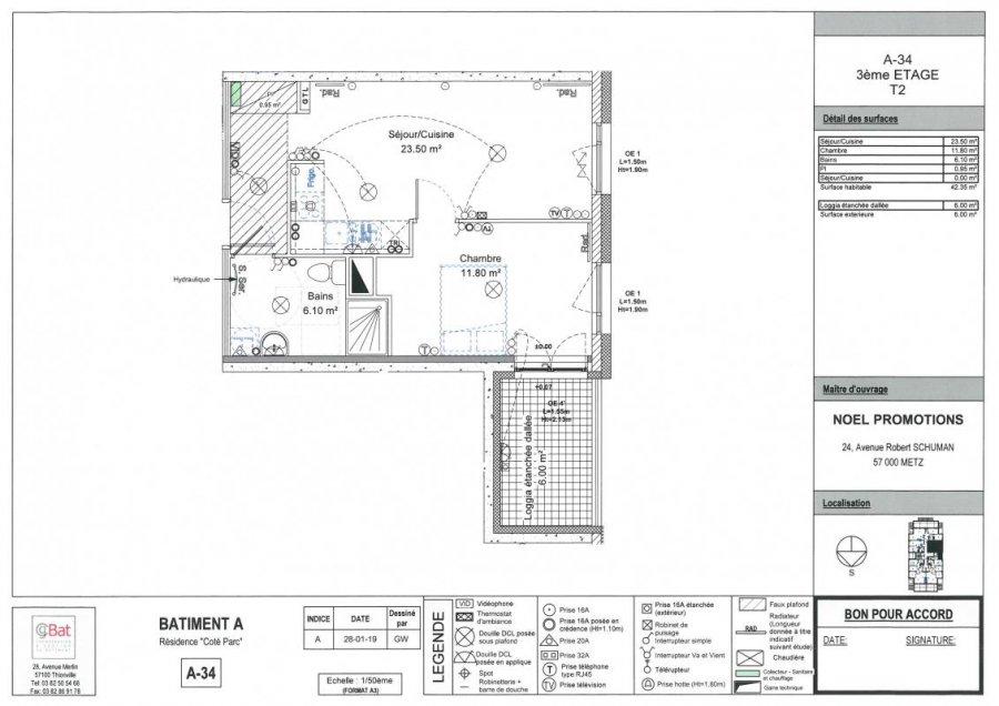 acheter appartement 2 pièces 42 m² metz photo 1