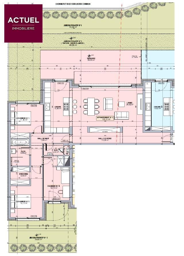 acheter appartement 3 chambres 128.12 m² alzingen photo 3