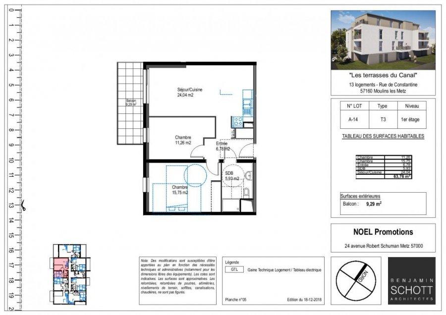 acheter appartement 3 pièces 63 m² moulins-lès-metz photo 1