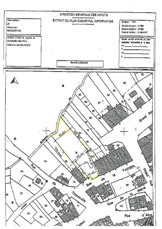 Terrain constructible à vendre à Bacourt