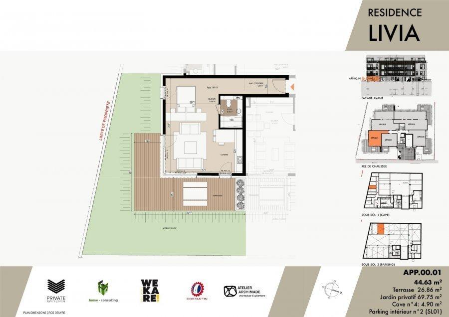 acheter studio 0 chambre 54.69 m² luxembourg photo 3