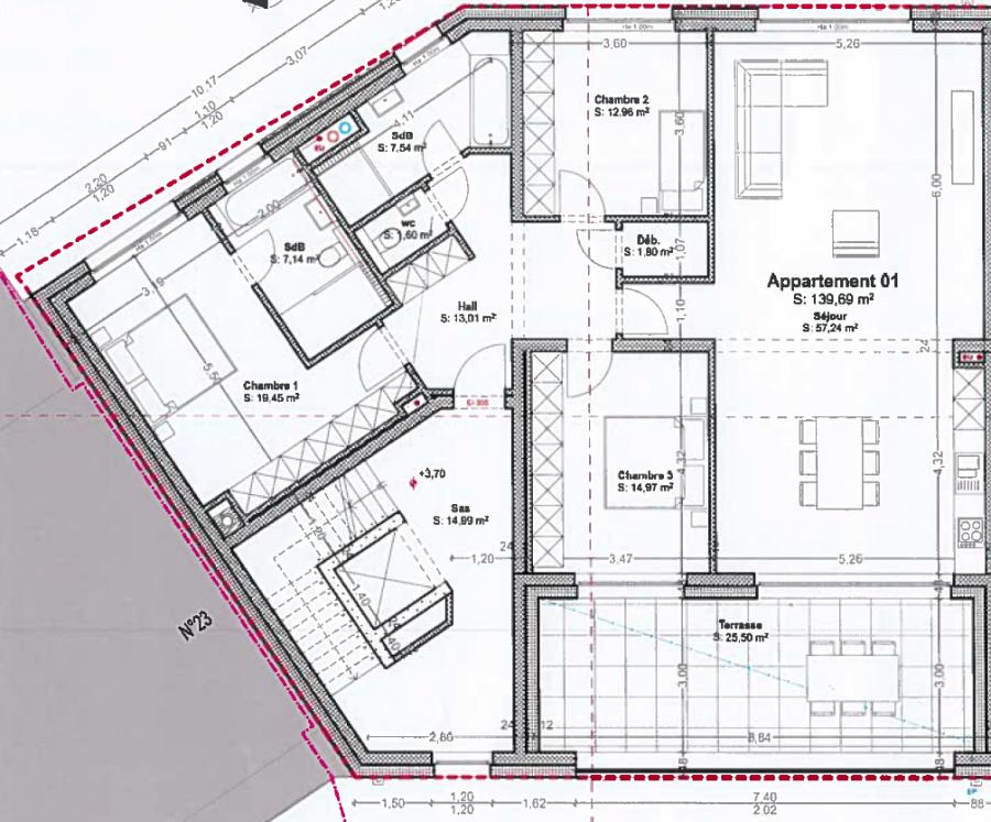 wohnung kaufen 3 schlafzimmer 139.69 m² bascharage foto 2