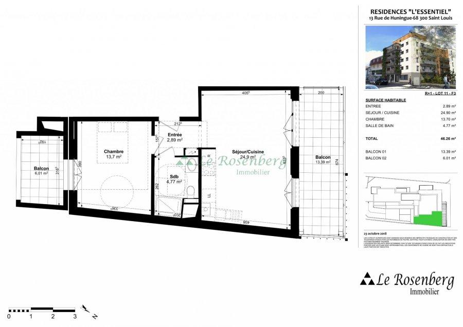 acheter appartement 2 pièces 46.26 m² saint-louis photo 2