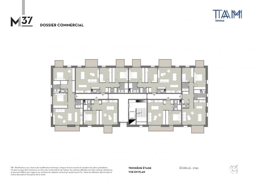 acheter appartement 1 chambre 47.01 m² luxembourg photo 2