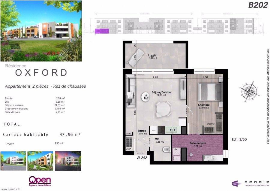 acheter appartement 2 pièces 48.05 m² hettange-grande photo 1