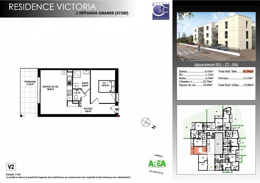 acheter appartement 2 pièces 42.47 m² hettange-grande photo 3