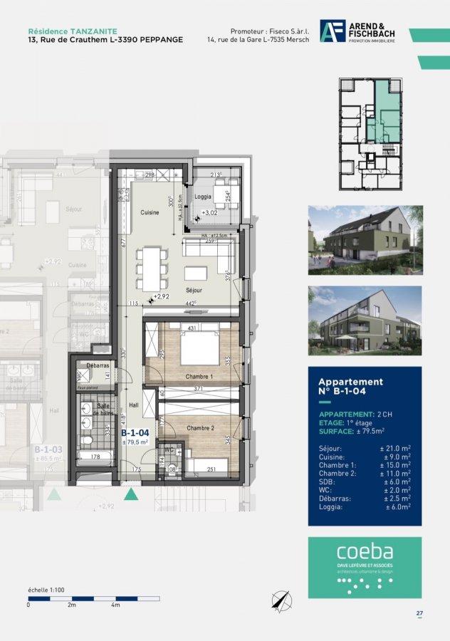 acheter appartement 2 chambres 79.41 m² peppange photo 4