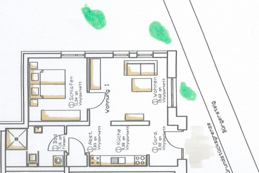wohnung kaufen 2 zimmer 48.26 m² trier foto 2