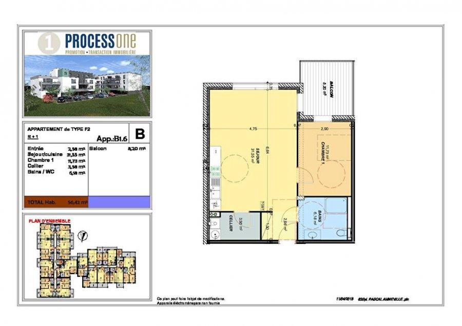 acheter appartement 2 pièces 56.42 m² amnéville photo 1