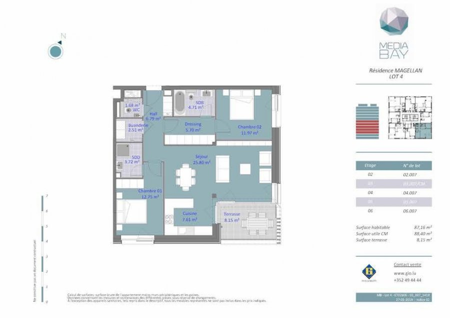 acheter appartement 2 chambres 87.4 m² luxembourg photo 4