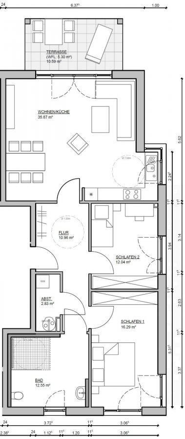 wohnung kaufen 3 zimmer 95 m² kenn foto 3