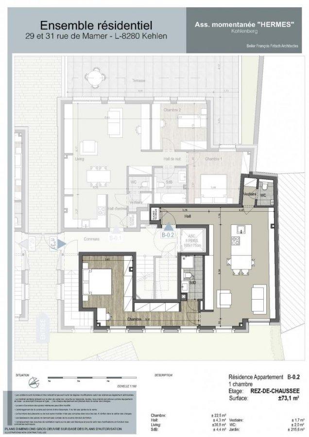 acheter appartement 1 chambre 73.1 m² kehlen photo 5