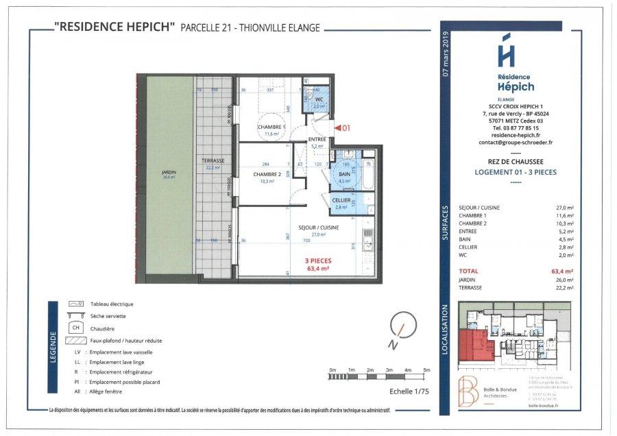 acheter appartement 3 pièces 63.4 m² thionville photo 4