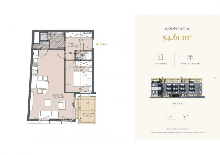 acheter appartement 1 chambre 54.61 m² luxembourg photo 4