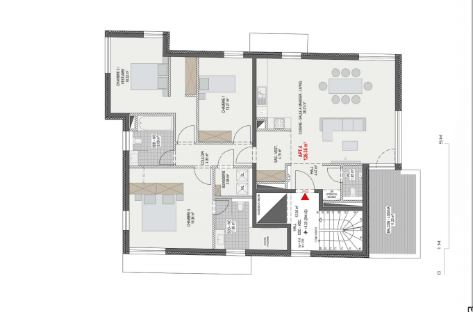 louer appartement 3 chambres 126.93 m² luxembourg photo 1
