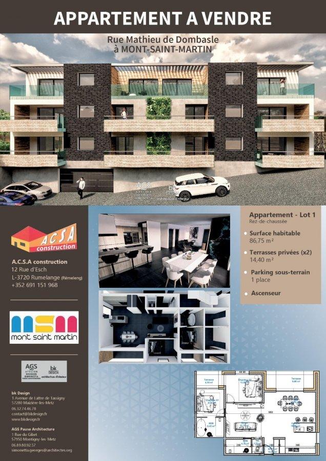 acheter appartement 2 pièces 49.55 m² mont-saint-martin photo 2