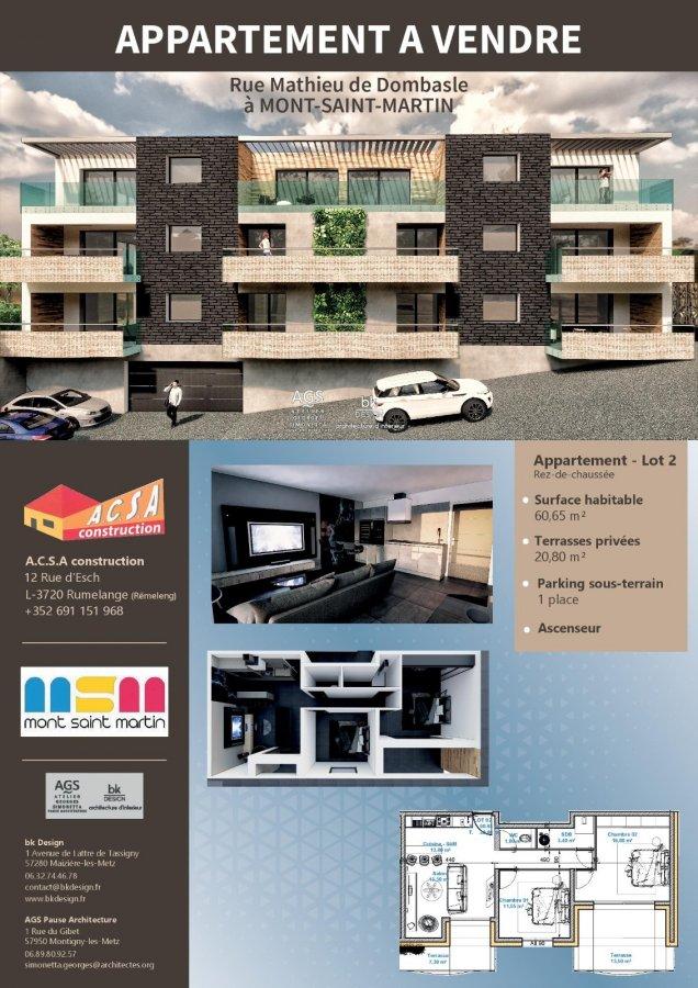 acheter appartement 2 pièces 49.55 m² mont-saint-martin photo 3