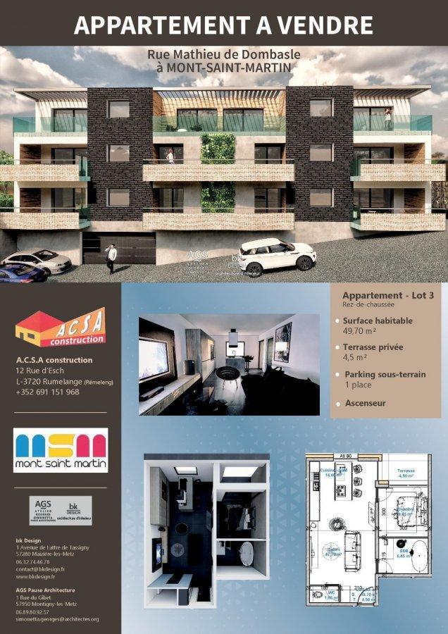 acheter appartement 2 pièces 49.55 m² mont-saint-martin photo 4
