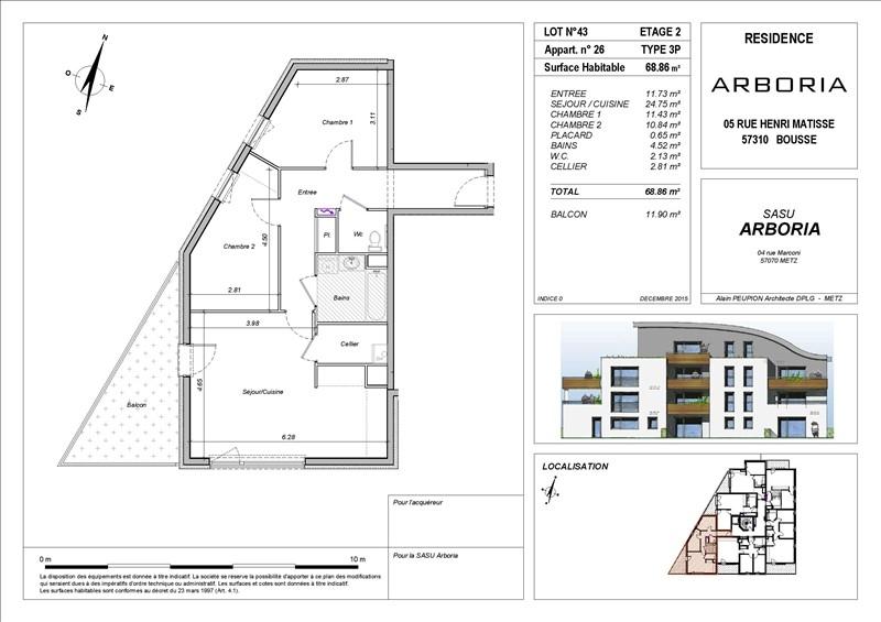 acheter appartement 3 pièces 68 m² bousse photo 3
